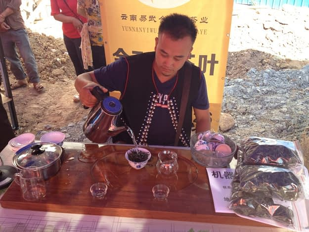 Tea tasting in Yiwu